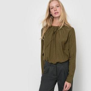 Gedrapeerde blouse met lange mouwen atelier R