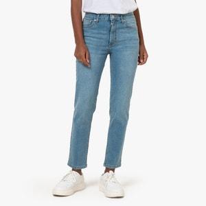 Verkorte slim jeans, hoge taille