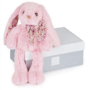 Coniglio rosa PM 25cm - Les Copains Câlins DOUDOU ET COMPAGNIE