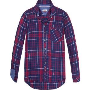 Chemise  col polo,  chemise imprimé à carreaux TOMMY JEANS