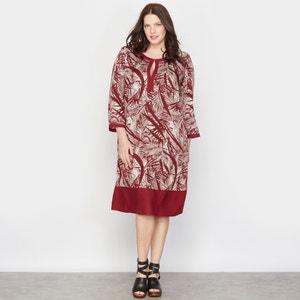 Palm Tree Print Shift Dress TAILLISSIME
