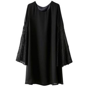 Long-Sleeved Knee-Length Dress R studio