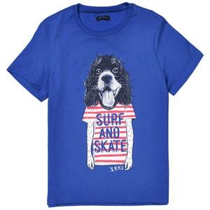 Dog Print T-Shirt, 3-14 Years IKKS JUNIOR