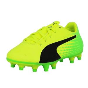 Puma EVOSPEED 17.5 FG JUNIOR Chaussures de Football Enfant Vert Jaune PUMA