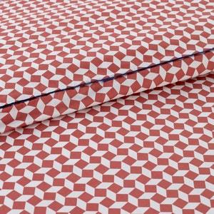 Pink Tie Print Cotton Percale Duvet Cover La Redoute Interieurs