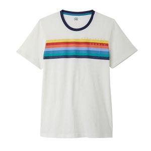 Camiseta con cuello redondo y motivo a rayas delante La Redoute Collections