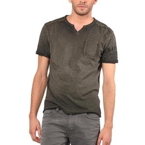 T-shirt lisa com decote em V, mangas curtas KAPORAL 5