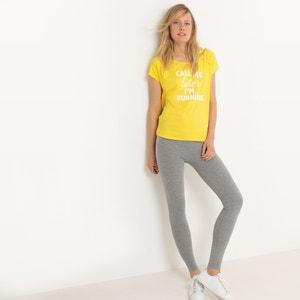 T-shirt de desporto com mensagem R essentiel