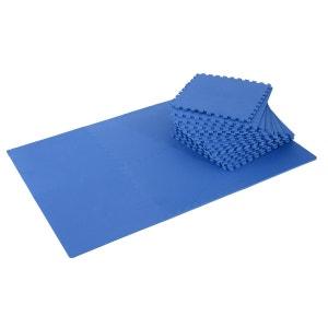 Tapis interconnectables en mousse 62 cm x 62 cm x 13 mm avec bordures tapis puzzle 25 pièces 9,3 m² de surface bleu - HOMCOM HOMCOM