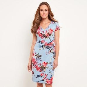 Vestido cruzado con estampado de flores, semilargo JOE BROWNS