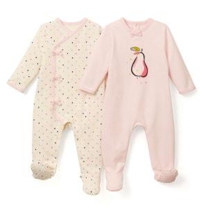 Lot de 2 Pyjamas molleton 0 mois-3 ans La Redoute Collections