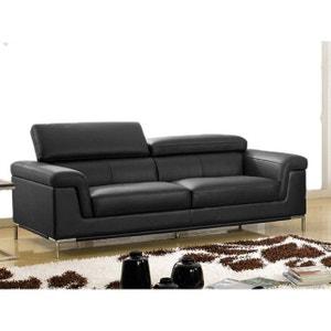 Canape Cuir Noir La Redoute - Salon cuir noir