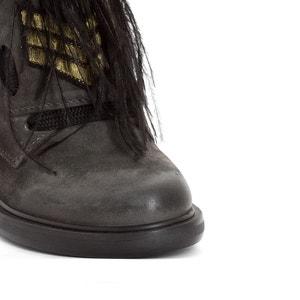 Leren boots Cafe MJUS
