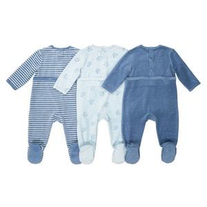 3er-Pack Pyjamas, Samt, 0-3 Jahre La Redoute Collections