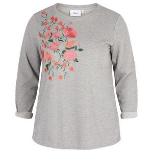 Sweater met bloemenprint en ronde hals ZIZZI
