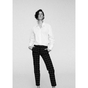 Pantalon coton à carreaux MANGO