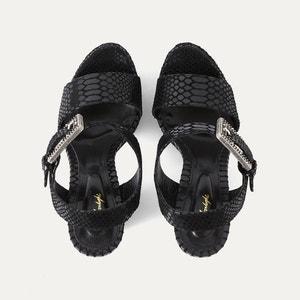 Sandales cuir façon python THE KOOPLES
