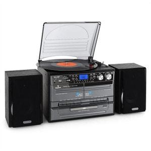 Mini chaîne HiFi CD USB platine stereo k7 encodage MP3 AUNA