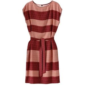 Платье в полоску с поясом La Redoute Collections