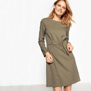 Robe flanelle, zippée dos La Redoute Collections