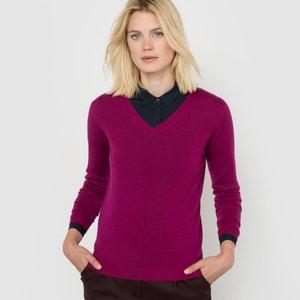 V-Neck Jumper/Sweater in Pure Merino Wool R essentiel