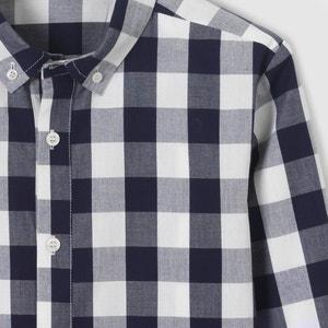 Camisa aos quadrados, 10-16 anos La Redoute Collections