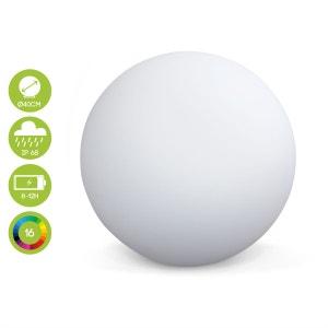 Boule lumineuse LED Ø 40cm 16 couleurs étanche recharge sans fil avec télécommande ALICE S GARDEN