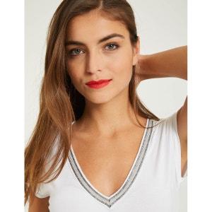 T-shirt avec galon à manches courtes MORGAN