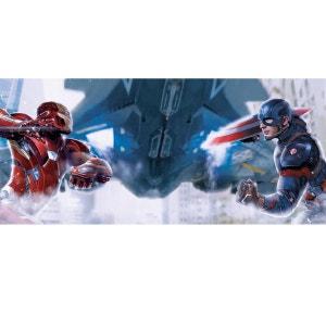 Poster géant Captain America vs Iron Man Marvel 202X90 CM WALLTASTIC