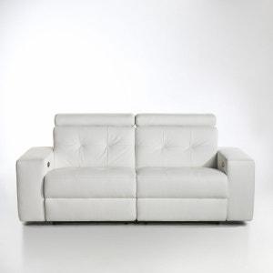 Canapé de relaxation électrique Julema en cuir La Redoute Interieurs