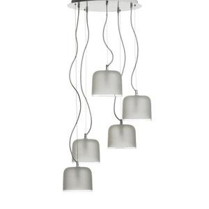 Lámpara de techo Zella con 5 pantallas, diseño E. Gallina AM.PM.