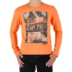 Tee Shirt Enfant Manches Longues Josef Juicy Orange JAPAN RAGS