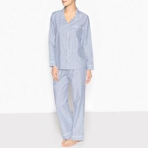 Pyjama chemise à rayures La Redoute Collections