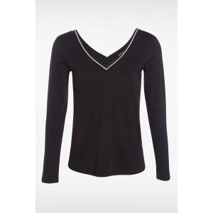 T-shirt femme manches longues Fil textile BONOBO