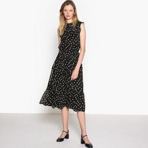 Sleeveless Printed Voile Midi Dress MADEMOISELLE R