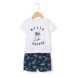 Ensemble T-shirt et short molleton 1 mois-3 ans R mini