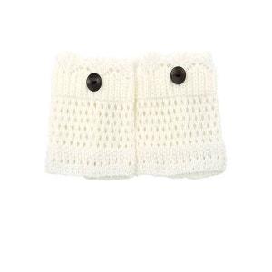 Mini Guêtre en crochet Blanc BELLE EN COLLANT