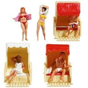 Modélisme HO : Figurines : Set dans le fauteuil en osier PLAY TRAIN FALLER
