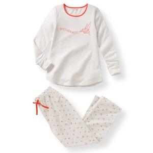 Pidżama z materiału z nadrukiem 10-16 lat R pop