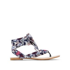 Sandálias com nós, estampado floral R édition