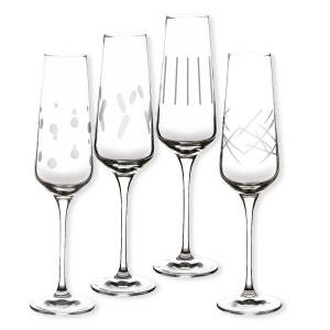 Flûtes à champagne taillées 18cl - Coffret de 4 - GATSBY BRUNO EVRARD