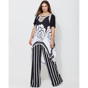 Kleid mit grafischem Print und ausgestellter Schnittform MAT FASHION
