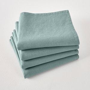 Set van 4 servetten Victorine, in gewassen linnen. La Redoute Interieurs