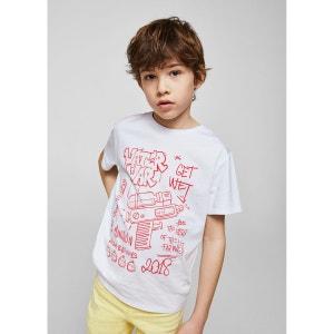 T-shirt en coton imprimé MANGO KIDS