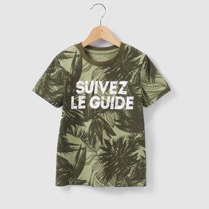 T-shirt estampado folhas 3-12 anos abcd'R