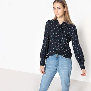 Camisa com laço, estampado floral ONLY