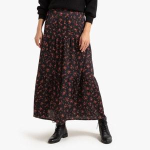 Lange rok met bloemenmotief
