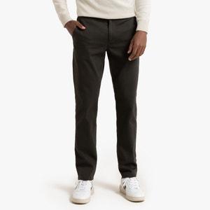 Chino slim broek in gemengd katoen