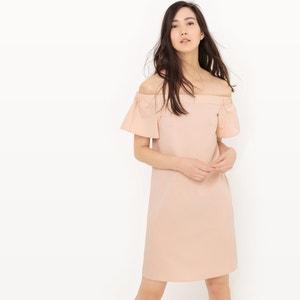 Bandeau jurk en ontblote schouders R édition