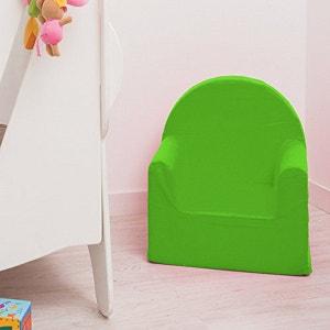 Fauteuil club en mousse polyester vert anis enfant DELTA